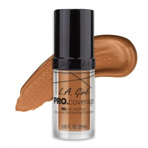 L.A. Girl PRO Coverage HD Foundation - Warm Caramel