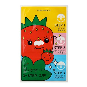 Tony Moly Runaway Strawberry Seeds 3 Step Nose Pack