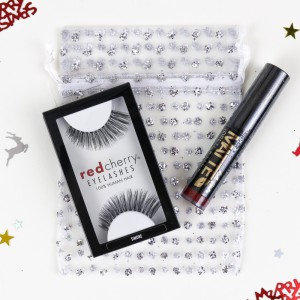 Red Cherry Lashes & L.A. Girl Lipstick Gift Set