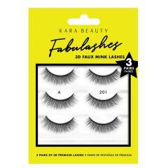 Kara Beauty 3D Faux Mink Lashes 3 Pairs A201